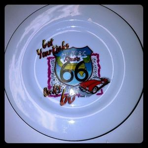 Historic route 66 vintage collector plate
